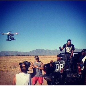 Team Phenomz Brought out the QuadCopter to get aerial shots and views of the Reigns for the music video.