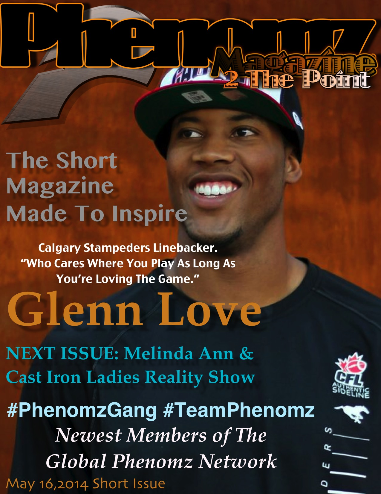 Glenn Love Jr. Featured on the Cover of Phenomz May Edition